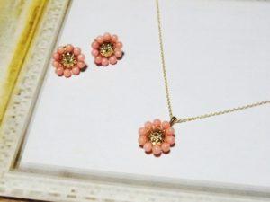 オーダー ピンク珊瑚アクセサリー
