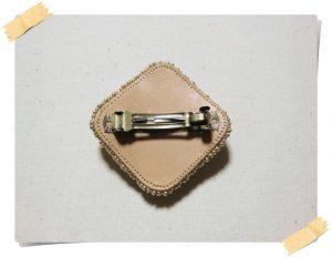 オーダー ビーズ刺繍のバレッタ
