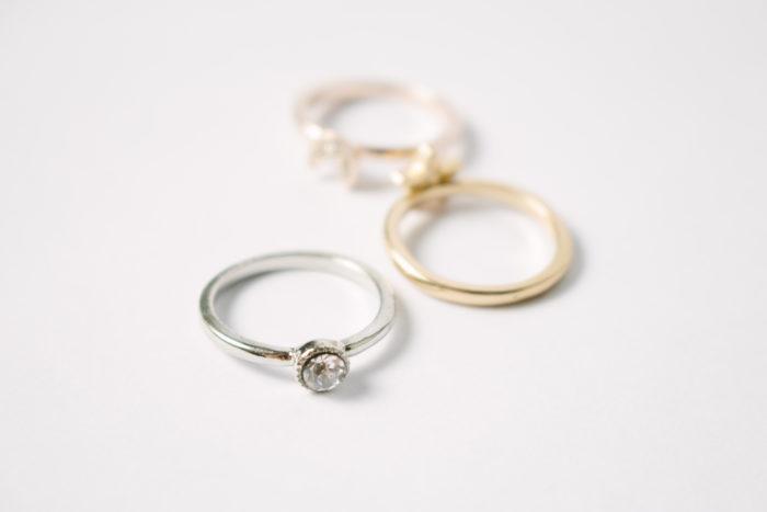 いろんな金属の指輪