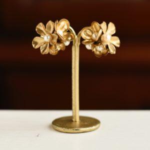 ヴィンテージ真鍮花束ピアス・イヤリング